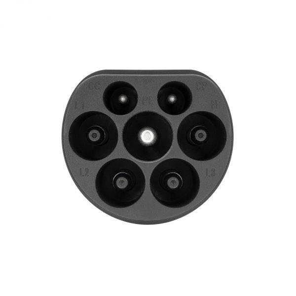 EV adapter Type 2 to Type 1 plug